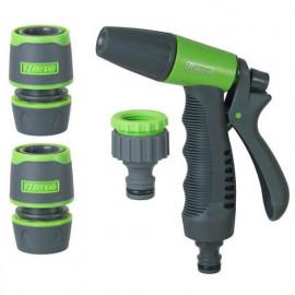 Kit pistolet + raccords + nez robinet D. 12/15 mm bi-matière plastique - PRA/TB.1306 - Ribiland