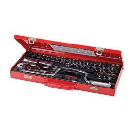 """Coffret de 42 clés/douilles 1/2"""" - 282384 - Silverline"""