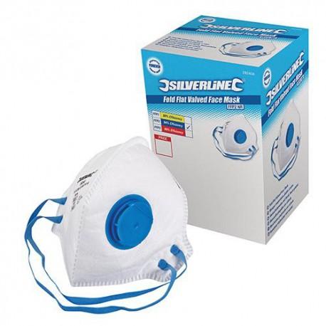 Boîte de 25 masques respiratoires pliables à valve FFP2 NR - 282404 - Silverline