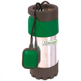 Pompe de puits eaux claires 800 W inox 3 turbines + flotteur - PRPVC801MC3 - Ribiland