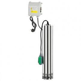 Pompe immergée inox 750 W, 43 m avec tableau électrique et flotteur - PRPVC751/43F - Ribiland
