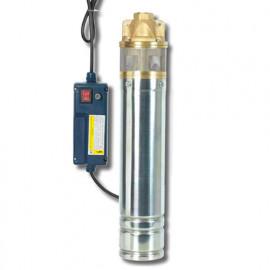 Pompe immergée inox 750 W, 60 m 1 turbine laiton avec tableau électrique - PRPGP750/60/1TL - Ribiland