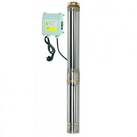 Pompe immergée inox 1100 W, 94 m avec tableau électrique - PRPGP1100/94 - Ribiland
