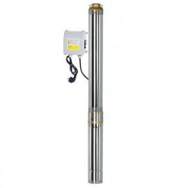 Pompe immergée inox 1100 W, 128 m avec tableau électrique - PRPGP1100/128 - Ribiland