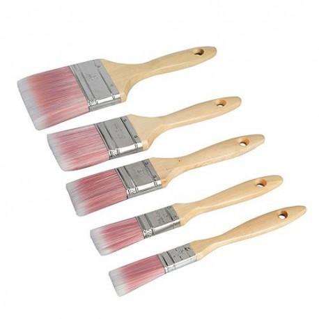 5 pinceaux synthétiques l : 19, 25, 40, 50 et 75 mm - 282408 - Silverline