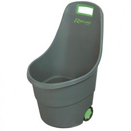 Chariot de jardin pour ramassage déchets/feuilles, 48 L - PRGC48 - Ribiland