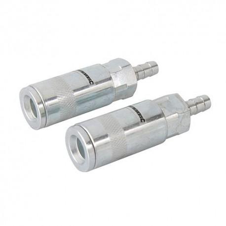2 coupleurs Euro rapide pour tuyau air comprimé - 282467 - Silverline