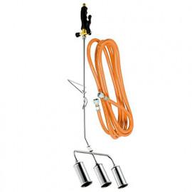 Désherbeur thermique 3 bruleurs D. 45 mm + tuyau 5 m BIOPROFLAMME - PROX583950 - Ribiland