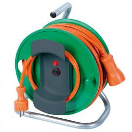 Enrouleur électrique jardin 25 m de câble HO5VV-F 3 x 1,5 mm2 pieds métal - PREEJ25315V - Ribiland