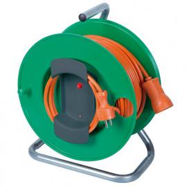 Enrouleur électrique jardin 40 m de câble HO5VV-F 3 x 1,5 mm2 pieds métal - PREEJ40315V - Ribiland