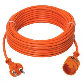 Prolongateur électrique jardin 20 m de câble HO5VV-F 2 x 1,5 mm2 - PREPJ20215R - Ribiland
