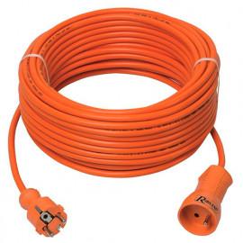 Prolongateur électrique jardin 25 m de câble HO5VV-F 3 x 1,5 mm2 - PREPJ25315R - Ribiland