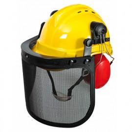 Casque de protection 3 en 1, casque + visière + oreillettes - PRPROTC3EN1 - Ribiland