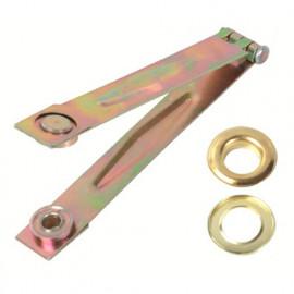 Pince à oeillets + 50 oeillets métalliques - PRBOMP - Ribiland