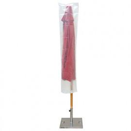Housse ECO platinium 90 gr/m2 45 x Ht. 190 cm pour parasol droit - PRH090190X45 - Ribiland