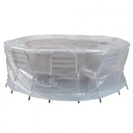 Housse ECO platinium 90 gr/m2 200 x Ht. 80 cm pour table ronde et chaises - PRH090200D - Ribiland