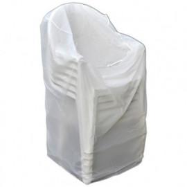 Housse ECO platinium 90 gr/m2 90 x 70 x Ht. 115 cm pour chaises avec accoudoirs - PRH09091X71 - Ribiland