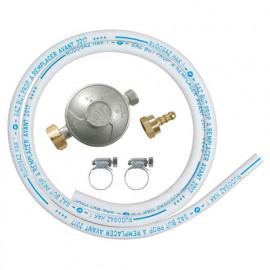 Kit gaz détendeur butane + tuyau 1,50 m 5 ans avec colliers - DG170TC75/B - Ribiland