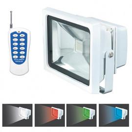 Projecteur à LED 20 W 230 V mural, lumières 4 couleurs + télécommande - PRSPOT20MCT - Ribiland