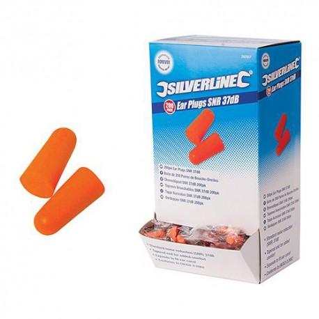 Bouchons d'oreilles SNR 37 dB 200 paires - 282557 - Silverline