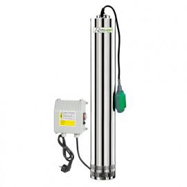 Pompe immergée inox 11000 W 230 V, 65 m avec tableau électrique et flotteur - PRPVC1101/65F - Ribiland