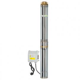 Pompe immergée inox 750 W 230 V, 95 m avec tableau électrique, immergeable 40 m sous l'eau - PRPGP750/95-40 - Ribiland