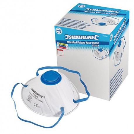 Boîte présentoir de 10 masques respiratoires moulés à valve FFP2 NR - 282590 - Silverline