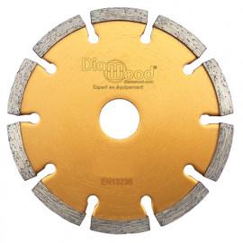 Disque diamant à déjointoyer D. 230 x Al. 22,23 x Ht. 7 x ép. 6,4 mm - béton, matériaux de construction - fixtout