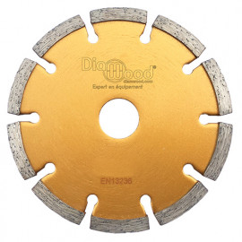 Disque diamant à déjointoyer D. 115 x Al. 22,23 x Ht. 7 x ép. 8 mm - béton, matériaux de construction - fixtout