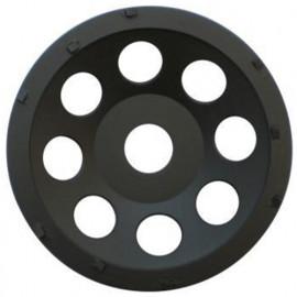 Plateau de surfaçage PCD BLACK GRINDER D.125 x Al. 22,23 mm x 9 PKD 1 mm - Epoxy, colle, béton, peinture - fixtout Platinum