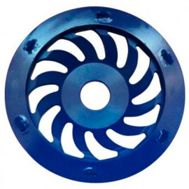 Plateau de surfaçage PCD BLUE GRINDER D.125 x Al. 22,23 mm x 6 PKD 3 mm - Epoxy, colle, béton, peinture - fixtout Platinum