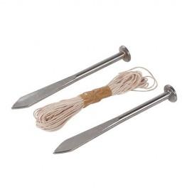Cordeau de maçon à pointes L. 160 mm - 28299 - Silverline