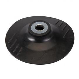 Plateau support caoutchouc D. 180 x 2 mm x M14 pour disque semi-rigide - 283002 - Silverline