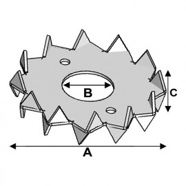 Crampon type C double face D. 62 x 21 x Ht. 16,5 x ép. 1,2 mm - Fixtout