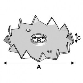 Crampon type C simple face D. 95 x 16 x Ht. 13,5 x ép. 1,5 mm - Fixtout
