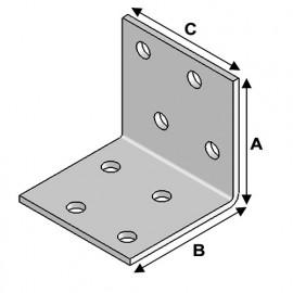 Equerre sans renfort (H x L x l x ép) 40 x 40 x 40 x 2,0 mm - Fixtout