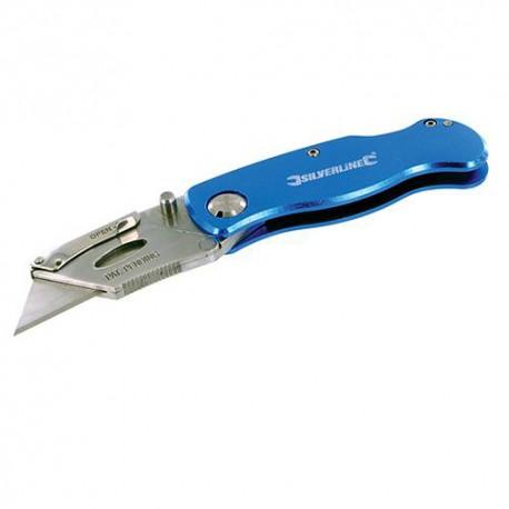 Cutter pliable 90 mm et 10 lames - 290192 - Silverline