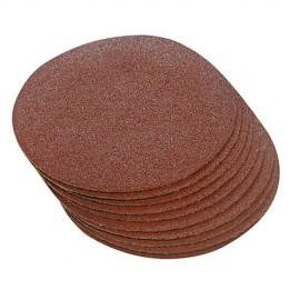 10 disques abrasifs non-perforés auto-agrippants D. 300 mm Grain 60 - 298538 - Silverline