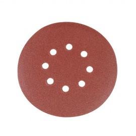 10 disques abrasifs perforés 8 trous auto-agrippants D. 150 mm Grain 40 - 301191 - Silverline