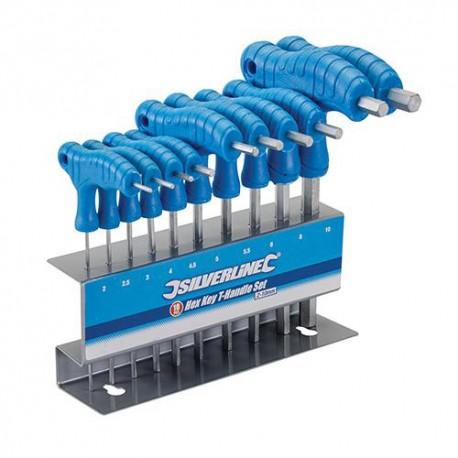 Assortiment de 10 clés 6 pans à poignée en Tde 2 à 10 mm - 323710 - Silverline