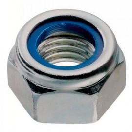 20 écrous freins M4 à tête hexagonale INOX A2 DIN 985 - Fixtout