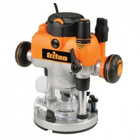 Défonceuse électrique PRO Triton bi-mode 1400 W, queue de 8 mm - 330085 - Triton