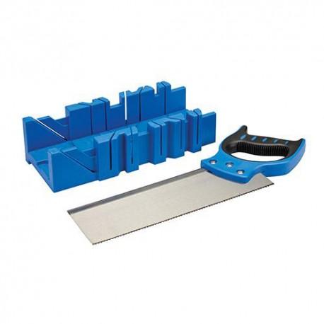 Boîte à onglets plastqiue 300 x 90 mm et scie 300 mm - 335464 - Silverline