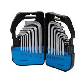 Coffret de 18 clés 6 pans/Torx - 341662 - Silverline