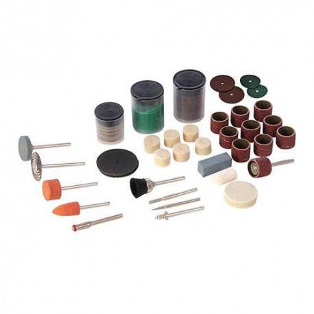 Ensemble de 105 accessoires sur tige D.3,17 mm pour outil multifonction - 349758 - Silverline