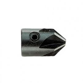 1 Fraise à Bois à trou et à chanfreiner D. 12,00-6,00 x Lt. 20 mm - 13080060012 - Hepyc