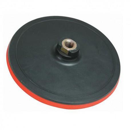 Plateau support rigide auto-agrippant D. 150 x 10 mm x M14 pour disque abrasif - 387918 - Silverline