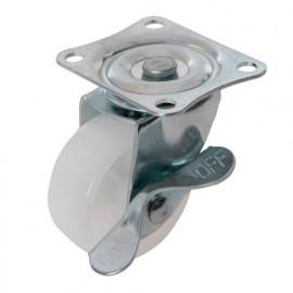Roulette pivotante à frein en polypropylène D. 50 mm - 50 kg - 112547 - Fixman