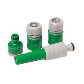 Ensemble 4 pièces de raccords pour tuyaux d'arrosage - 394989 - Silverline