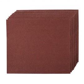 10 feuilles abrasives toile émery pour ponçage à main 230 x 280 mm Grain 60 - 399016 - Silverline